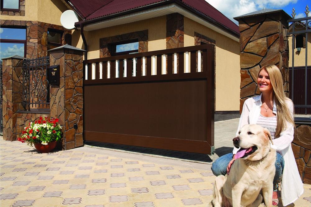 Уличные сдвижные ворота Alutech в Саратове - купить Уличные сдвижные ворота Alutech в Саратове прайс-лист цена 2018