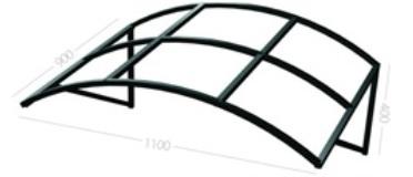 Козырек арочный любых размеров в Саратове - купить Козырек арочный любых размеров в Саратове прайс-лист цена 2019