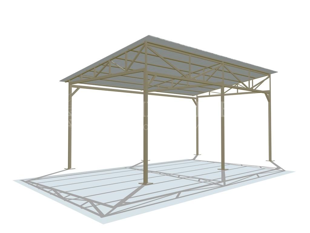 Односкатный навес любых размеров в Саратове - купить Односкатный навес любых размеров в Саратове прайс-лист цена 2021