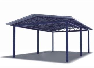 Двускатный навес любых размеров в Саратове - купить Двускатный навес любых размеров в Саратове прайс-лист цена 2021