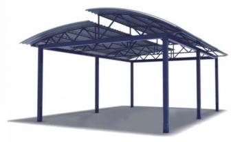 Двухуровневый навес любых размеров в Саратове - купить Двухуровневый навес любых размеров в Саратове прайс-лист цена 2020