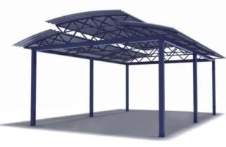 Трехуровневый навес любых размеров в Саратове - купить Трехуровневый навес любых размеров в Саратове прайс-лист цена 2021