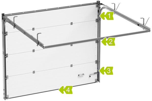 Гаражные секционные ворота Alutech Standard в Саратове - купить Гаражные секционные ворота Alutech Standard в Саратове прайс-лист цена 2021