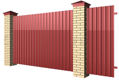 Забор металлический из профлиста любых размеров в Саратове - купить Забор металлический из профлиста любых размеров в Саратове прайс-лист цена 2021