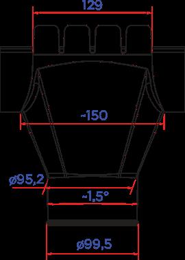 ВОРОНКА ВЫПУСКНАЯ  D125X100 в Саратове - купить ВОРОНКА ВЫПУСКНАЯ  D125X100 в Саратове прайс-лист цена 2019